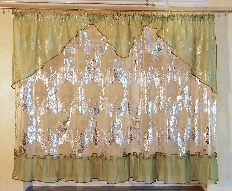 Короткие шторы на кухню фото 11