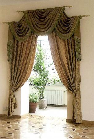 фото шторы на дверной проем